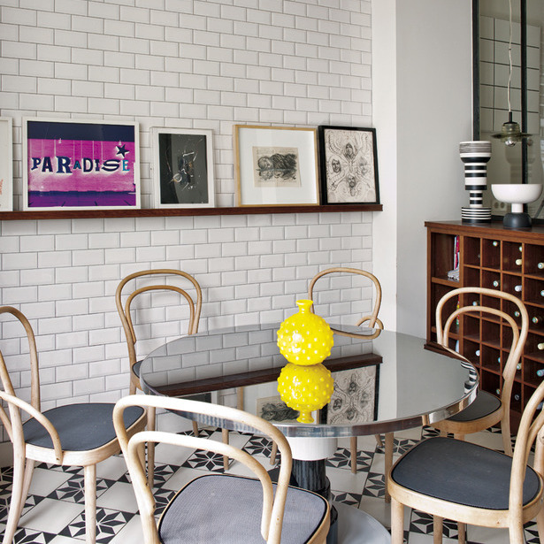 Breakfast Nook in a Midcentury Paris Apartment