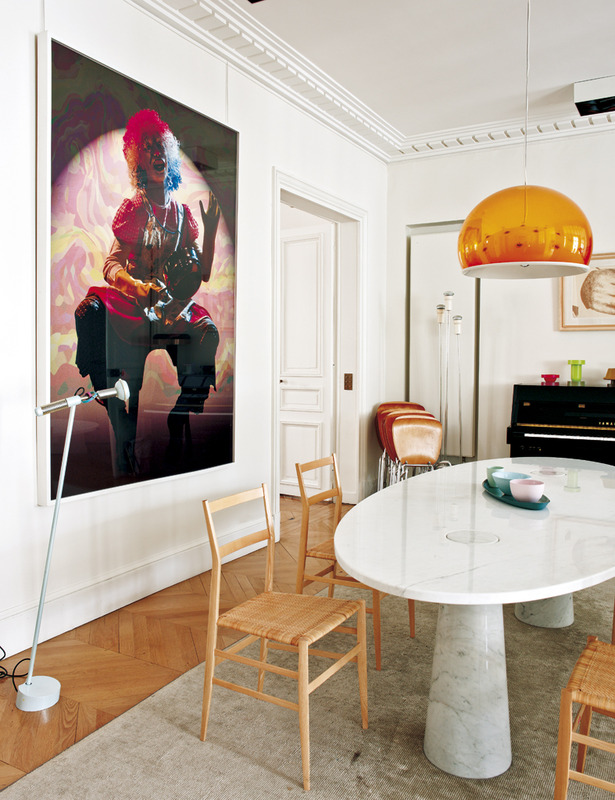 Cindy Sherman Clowns in Sandra Benhamou's Midcentury Paris Apartment