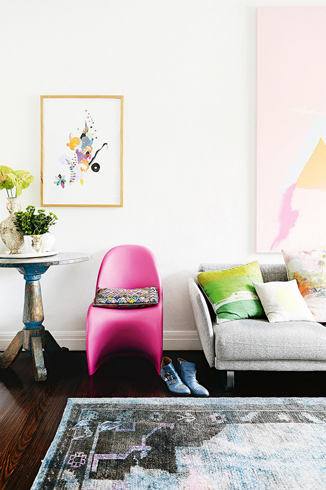 A Pink Chair in Miranda Skoczek's Home