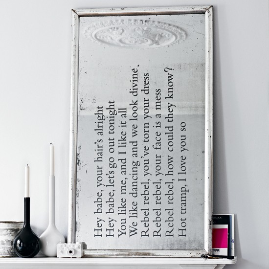 Decor Ideas: Text Written on Mirrors, Handwriting on Mirrors, Calligraphy on Mirrors / Photograph by James Merrell