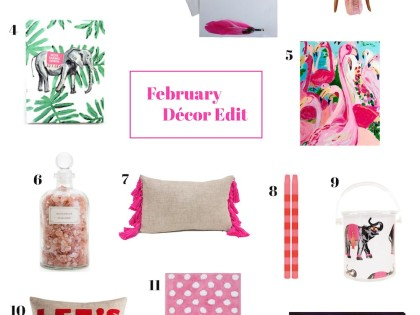 {living lovely} February Décor Edit