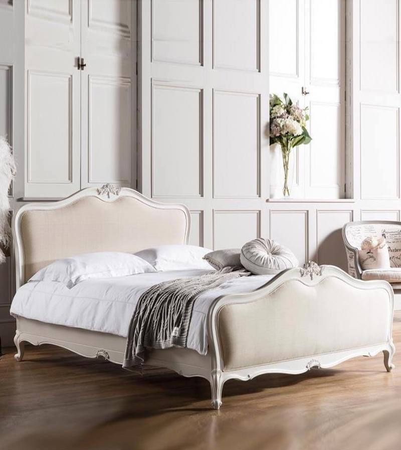 Charlotte Upholstered Bed via French Bedroom Company