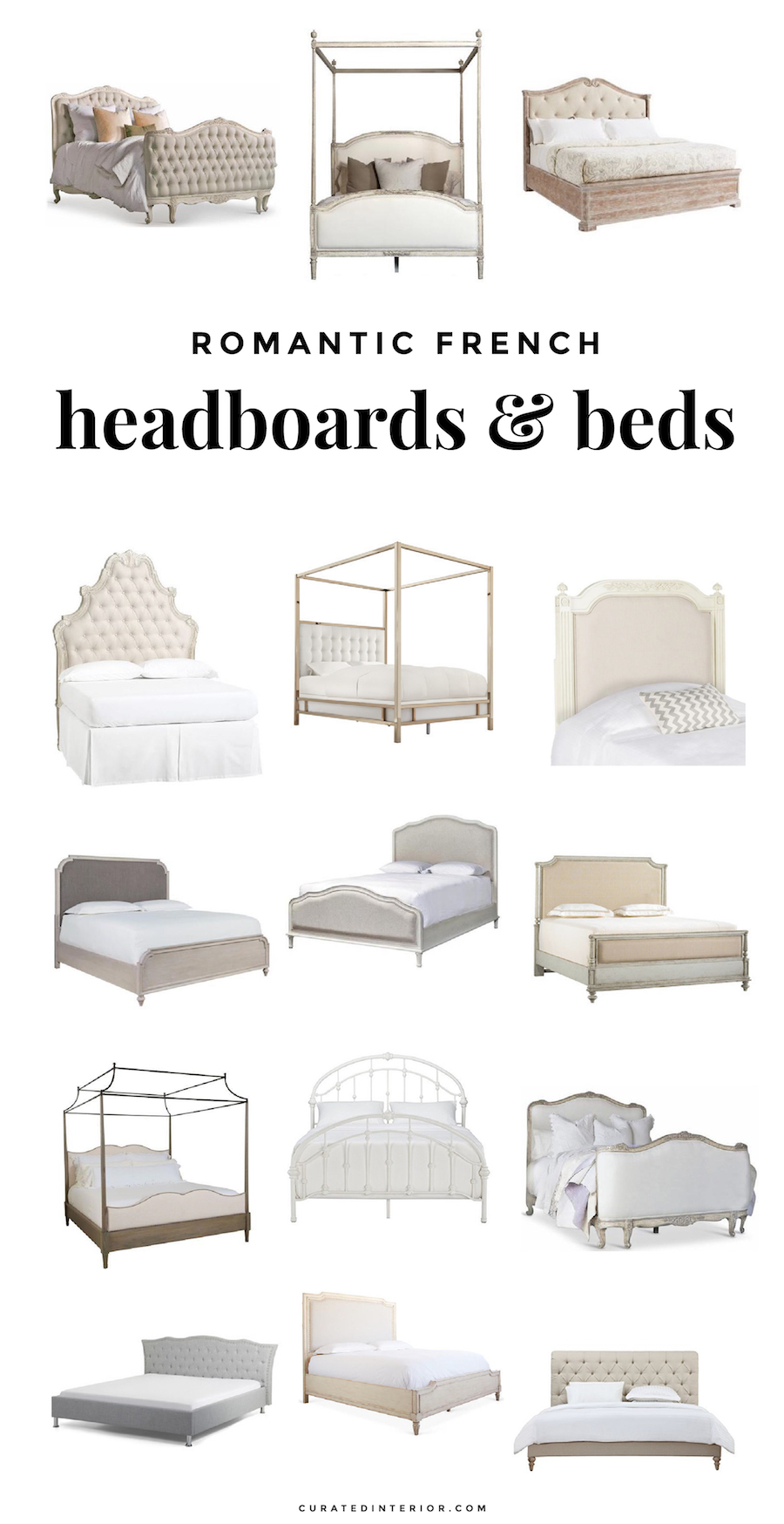 Romantic French Headboards and French Beds We Adore for the Bedroom