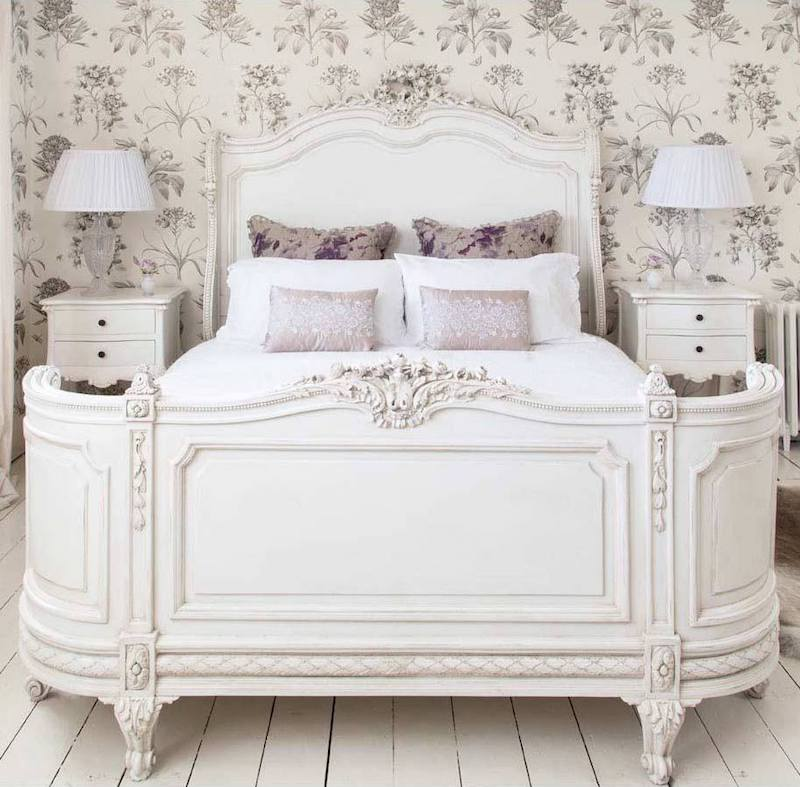 White Provencal Bonaparte French Bed