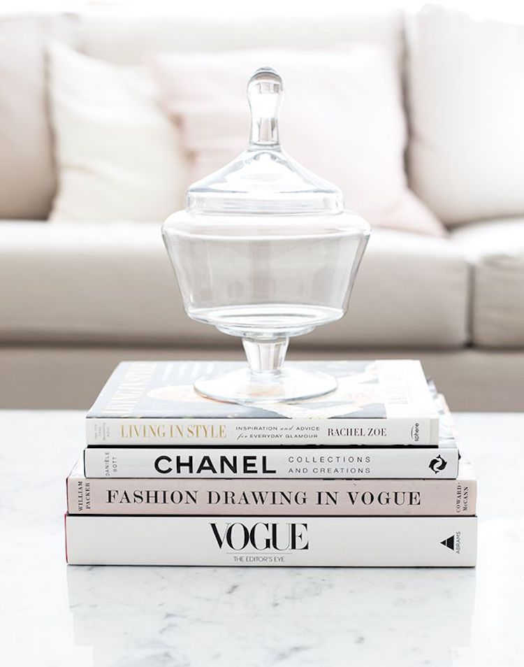 Coffee Table Books in Neutral Shades