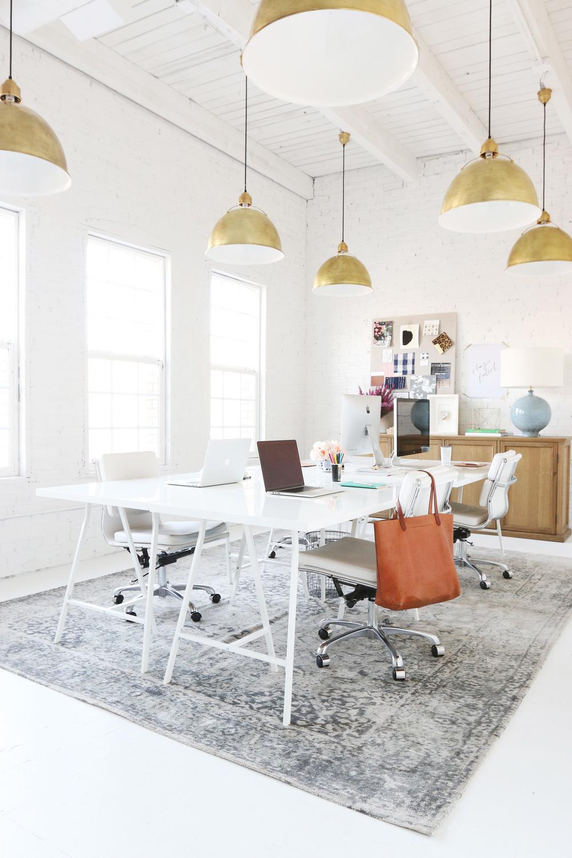 Soft grey overdyed rug via Studio McGee