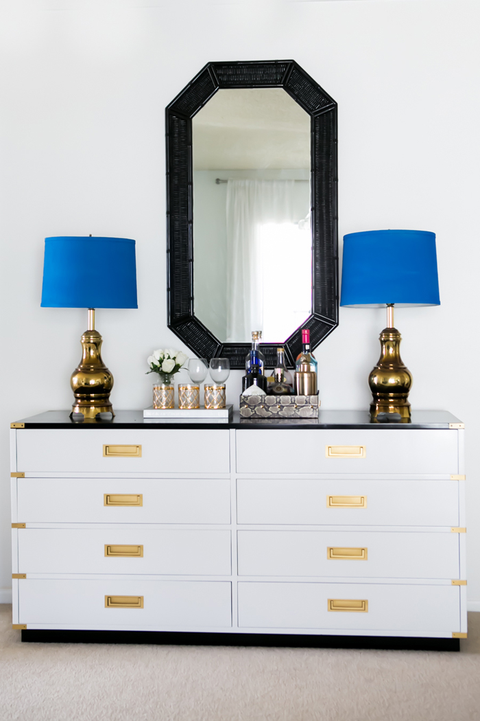 {styled space} An LA Apartment with Bright Blue Pops of Color