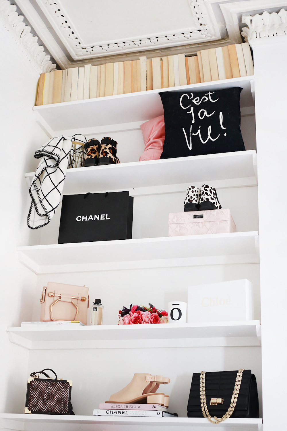 Shelving in Kate La Vie's Apartment