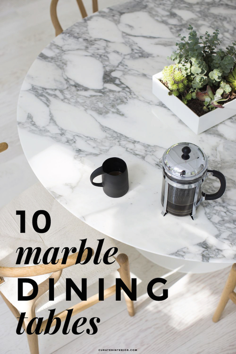 10 Marble Dining Tables!