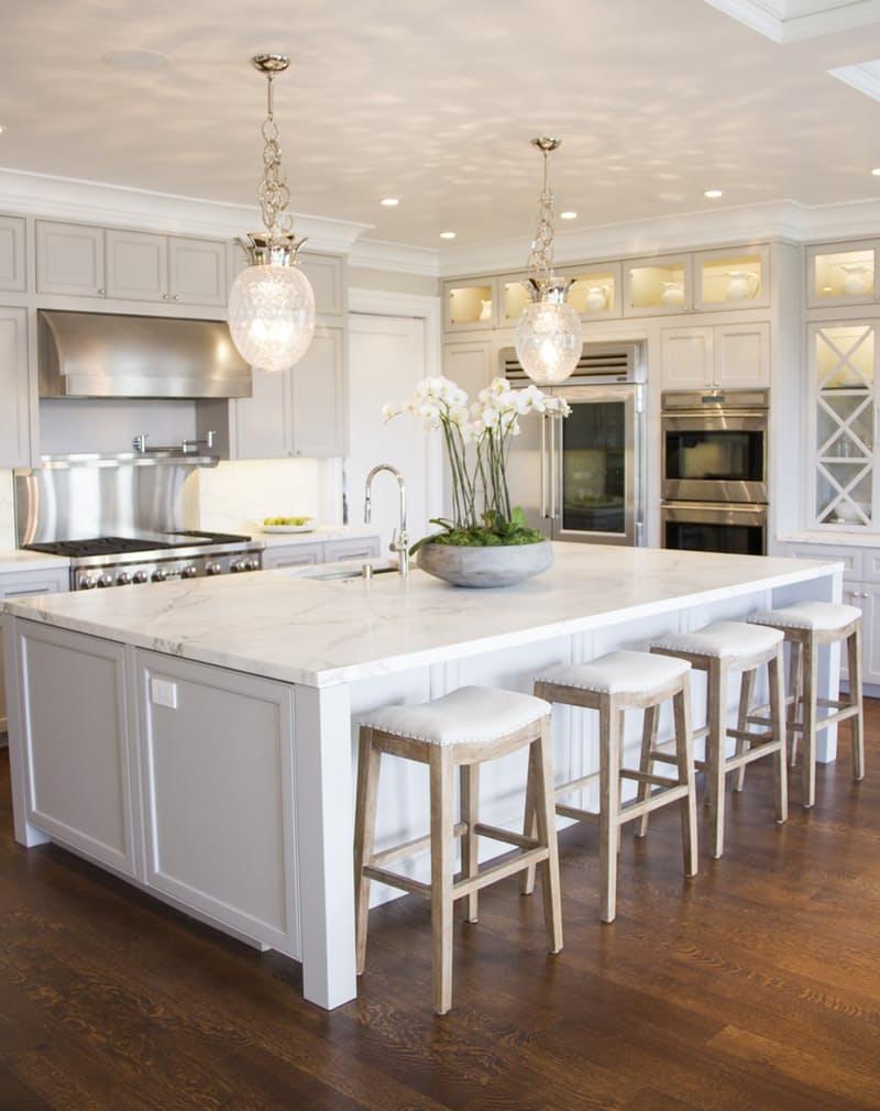 Marble Kitchen via Stephanie Strickland