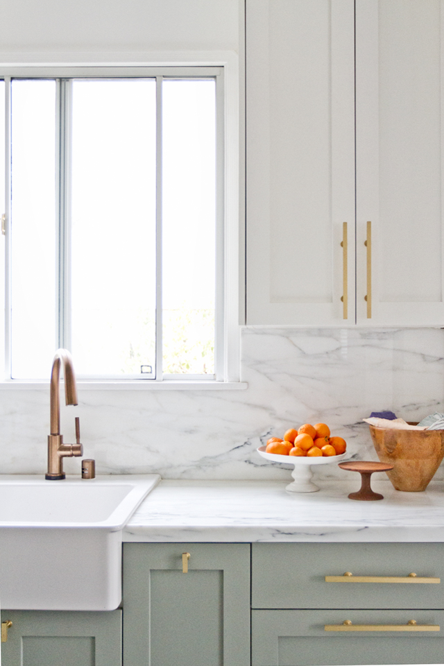 Marble Kitchen via Sarah Sherman Samuel