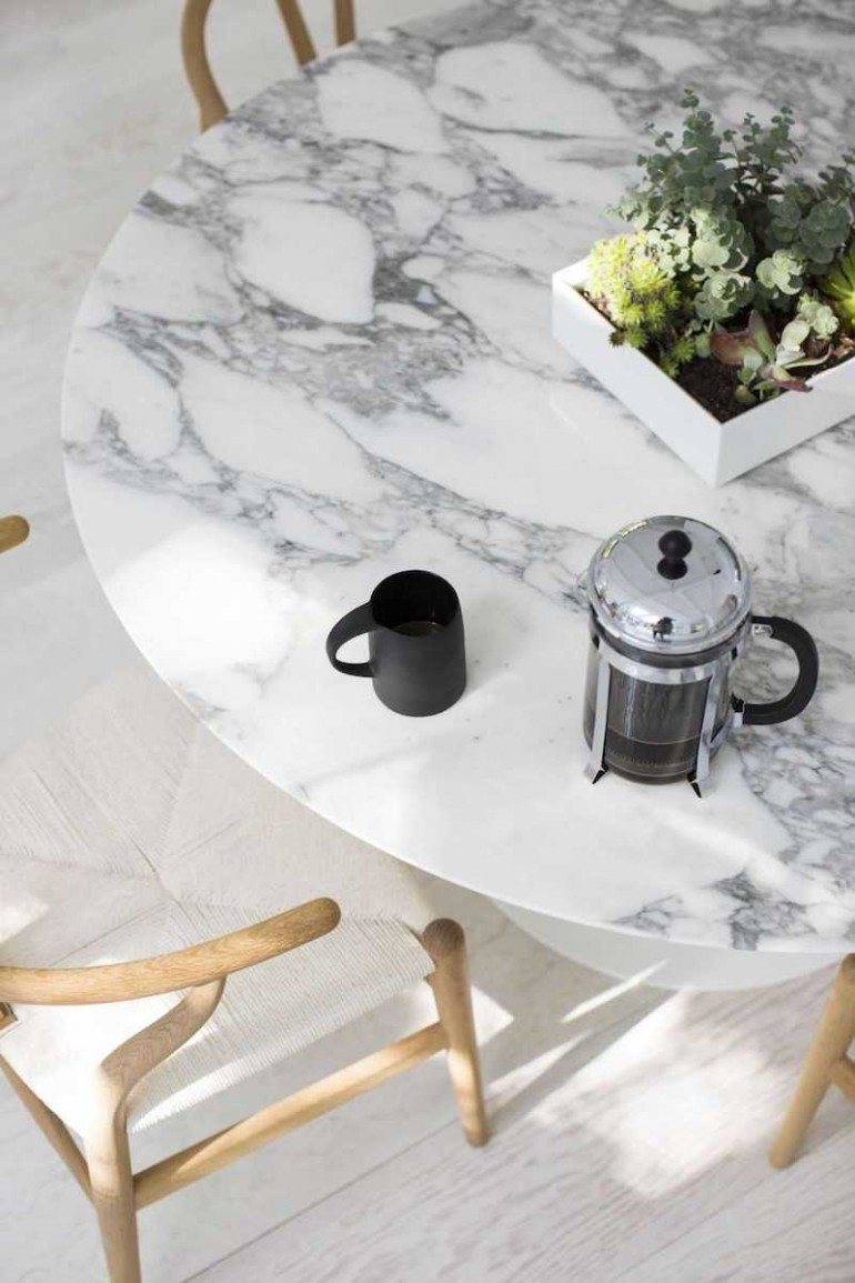 White Marble Table : White marble dining tables you ll adore