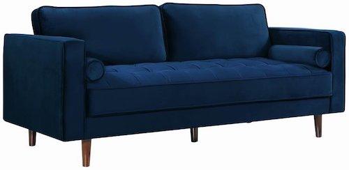 Affordable Blue Velvet Sofa