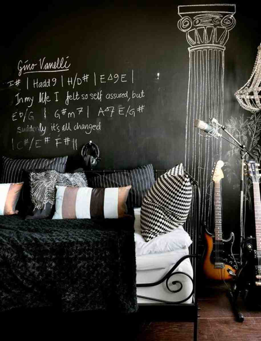 Black Wall Interior as a chalkboard
