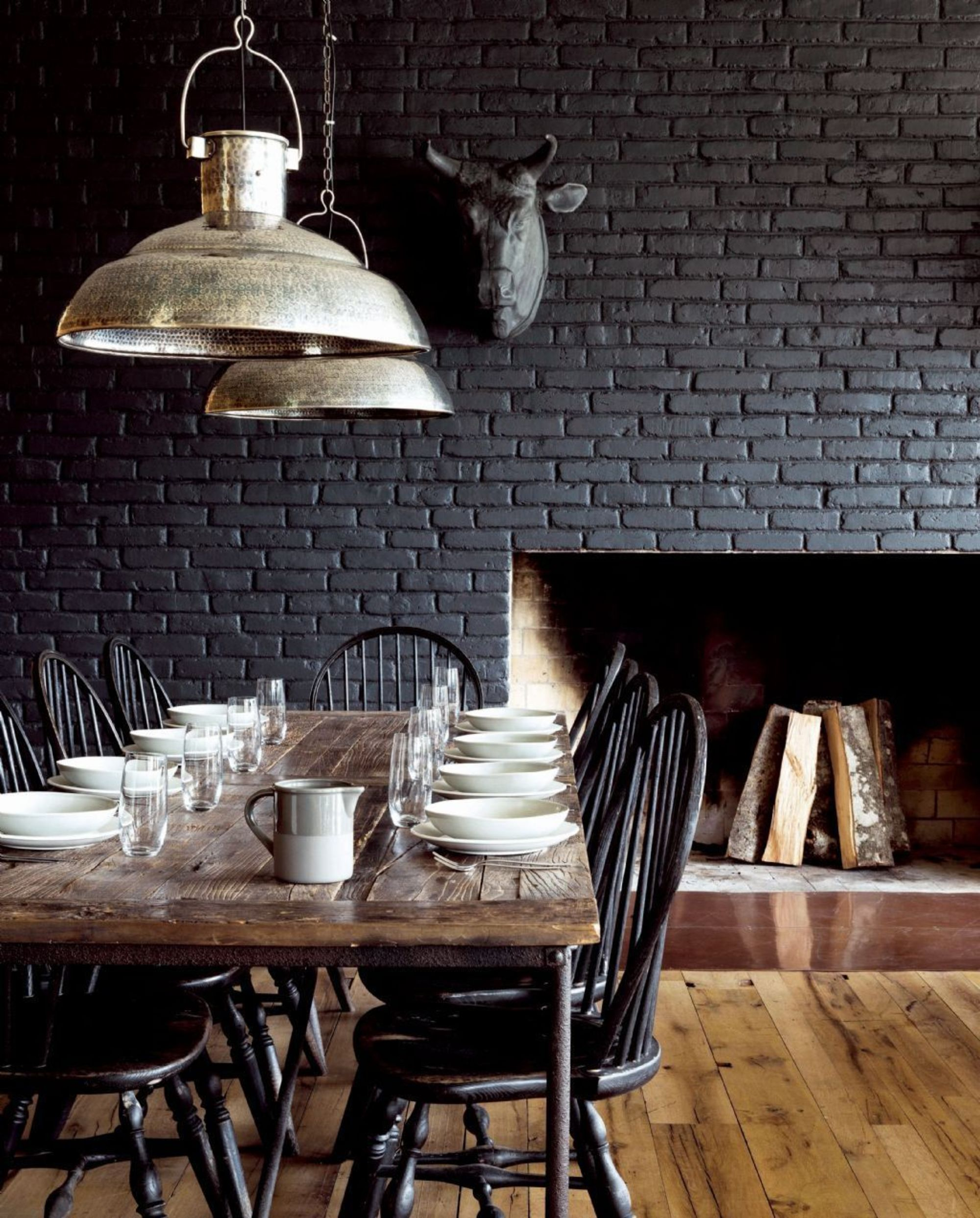 Black Wall Interior Brick For Texture