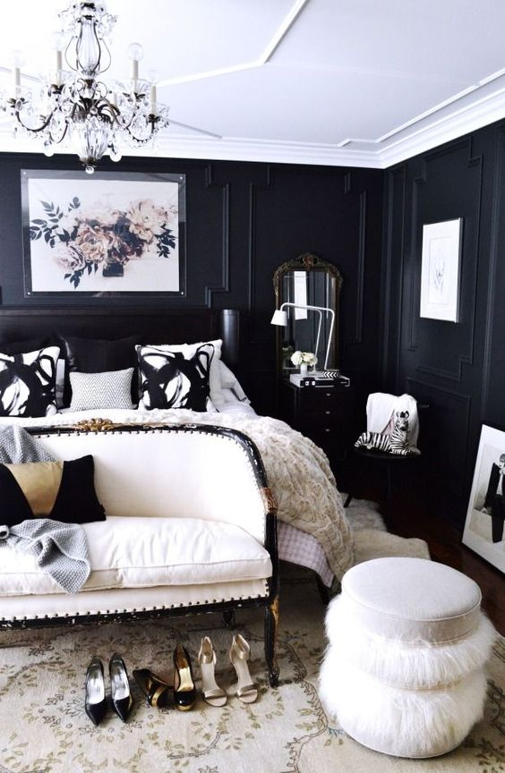 Black Wall Interior make sure the ceiling is white