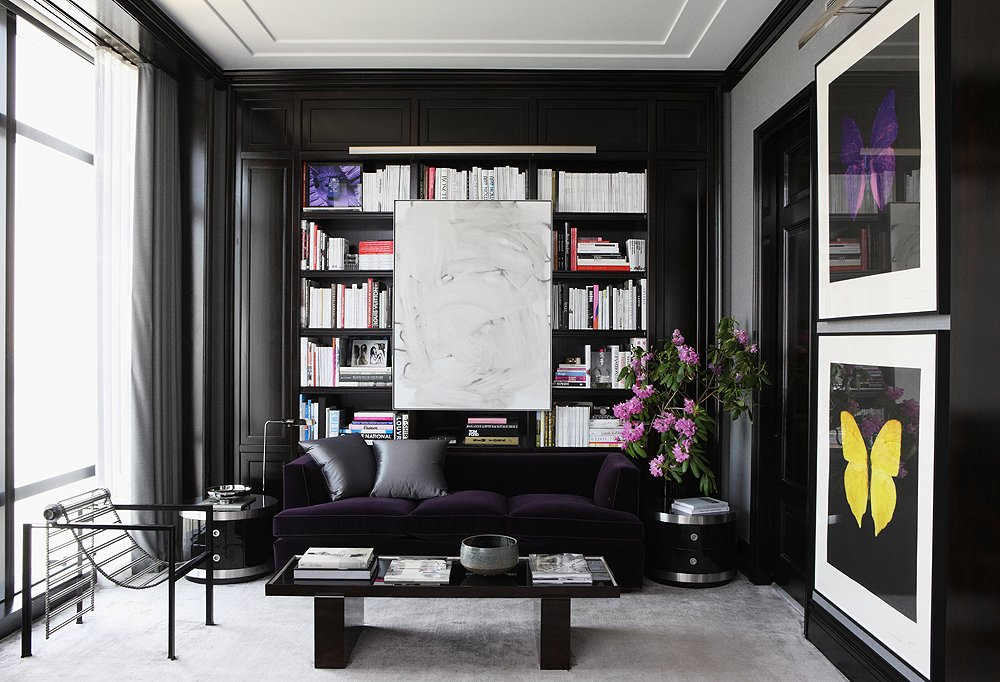 Black Wall Interior oversized art