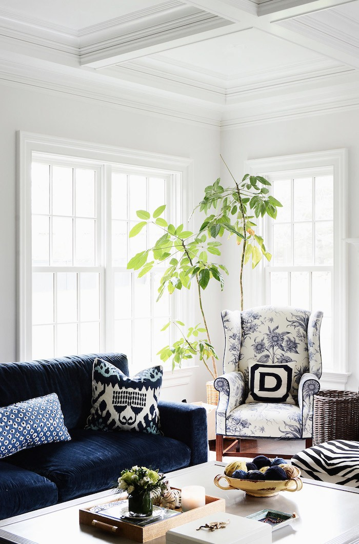 Dark Blue Living Room Furniture Apartment Therapy