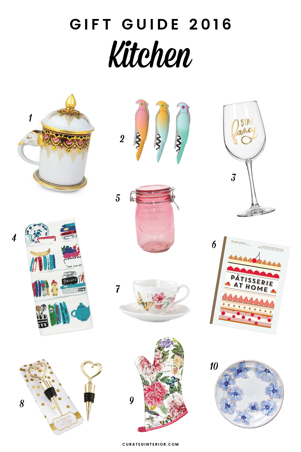 {gift guide} 10 Kitchen Decor Gifts for 2016