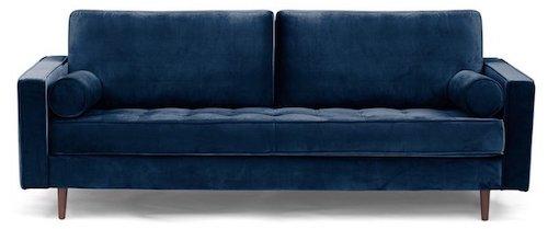 Highly Rated Blue Velvet Sofa