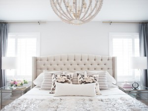 A Neutral & Sequined Bedroom Designed By Lark & Linen