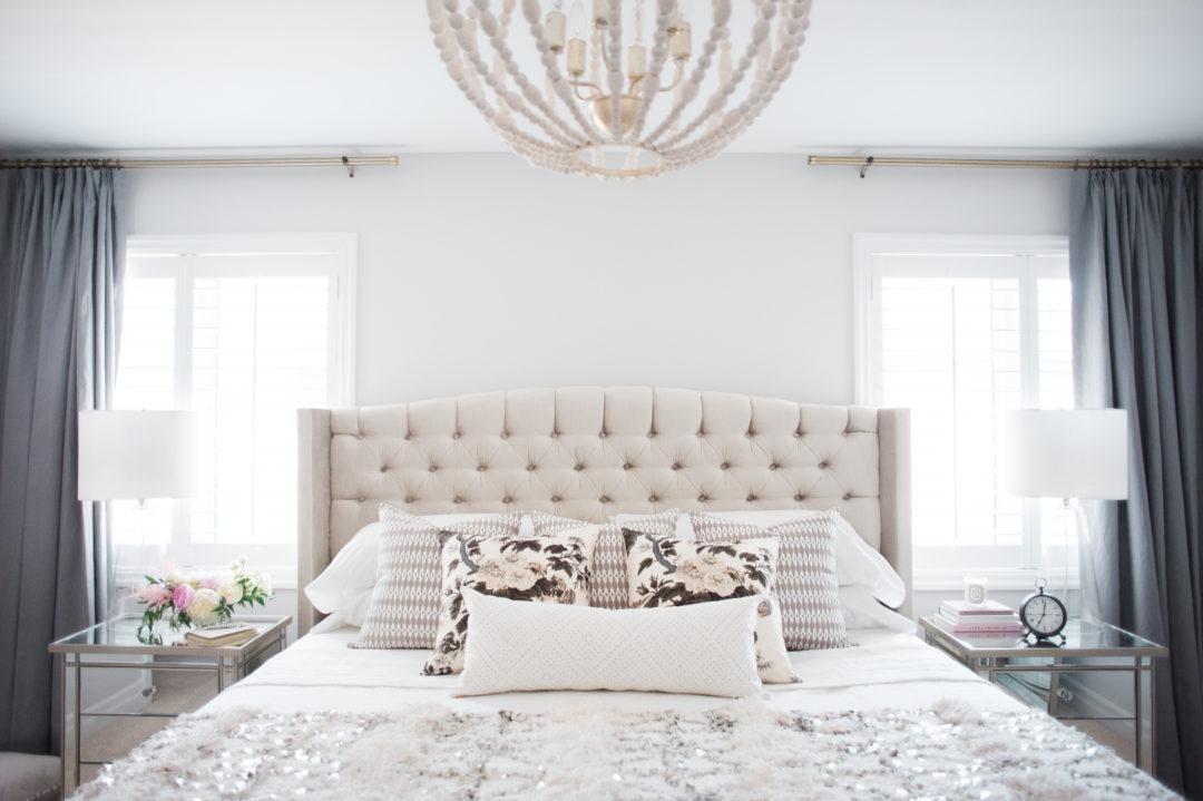 A Neutral & Sequined Bedroom Designed By Lark & Linen