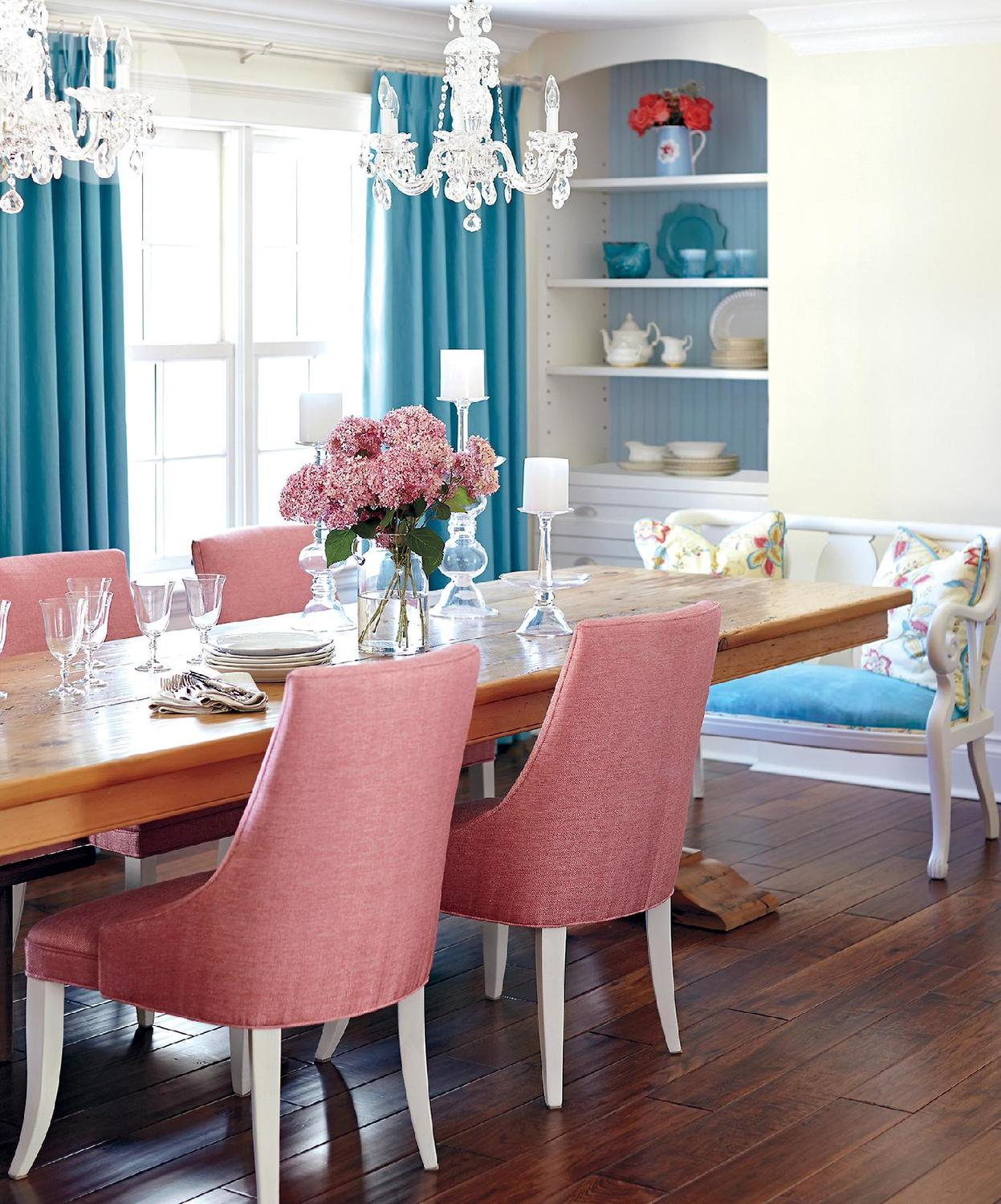 Stacy McLennan Designs A Charming Pink & Blue Home in Markham