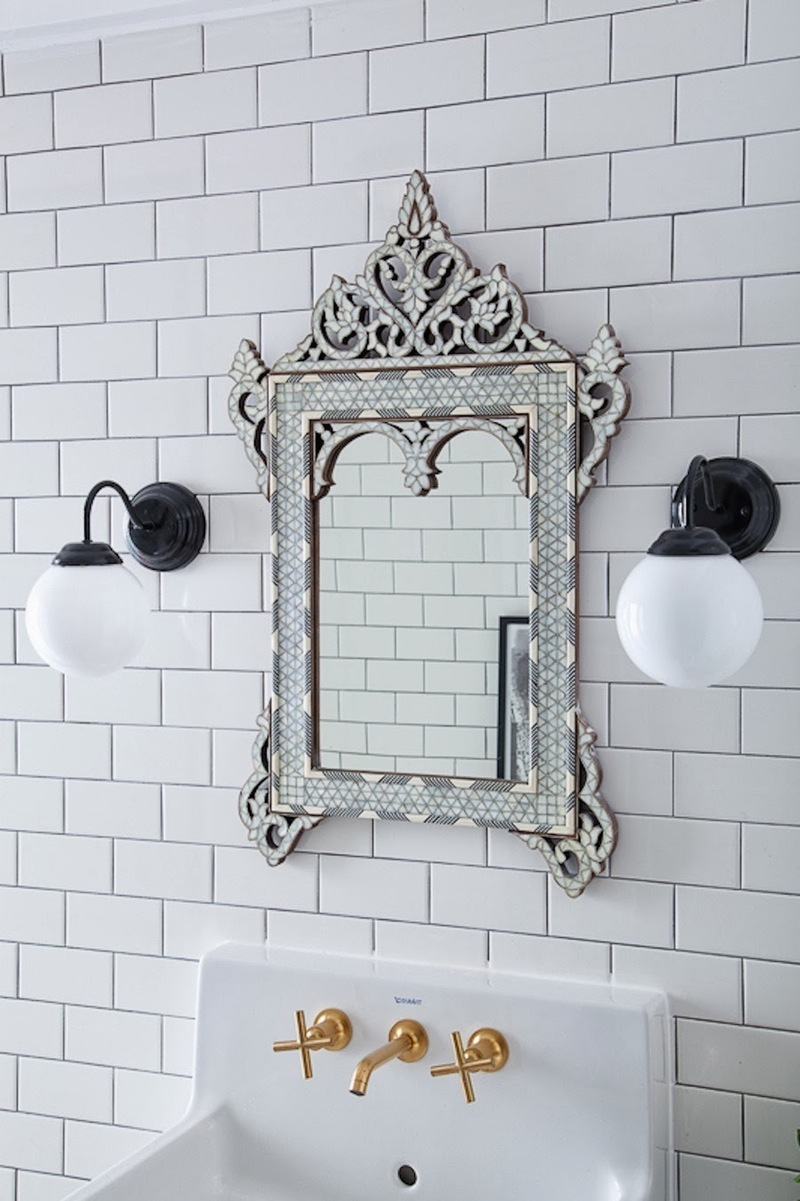 Bathroom Venetian Mirror via Christine Dovey