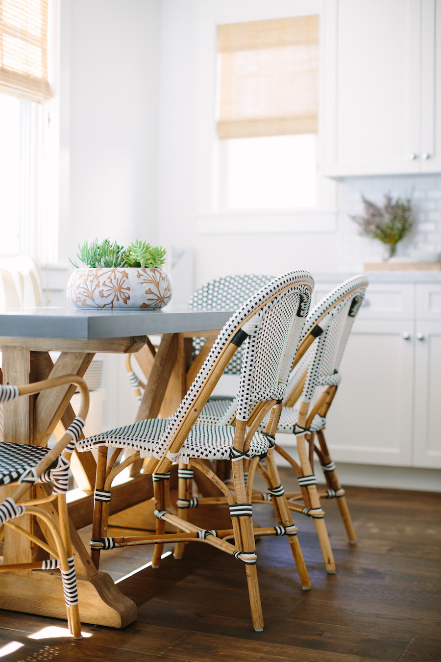 Bistro Chairs Dining Room via Rita Chan Interiors
