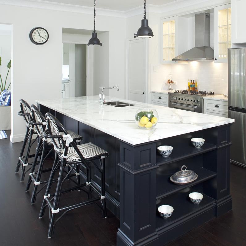 Black French Bistro Chairs via Porchlight Interiors