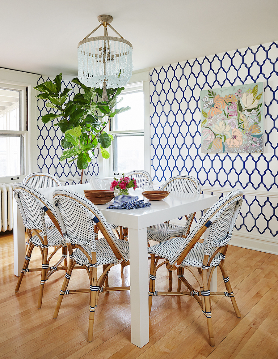 Blue French Bistro Chairs via Amie Corley
