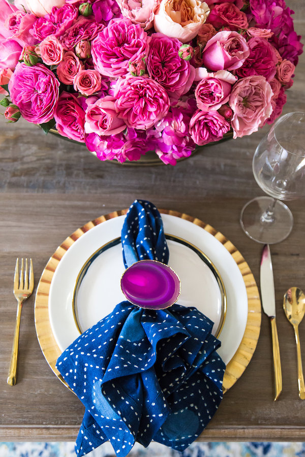 Blue Napkin Placesetting