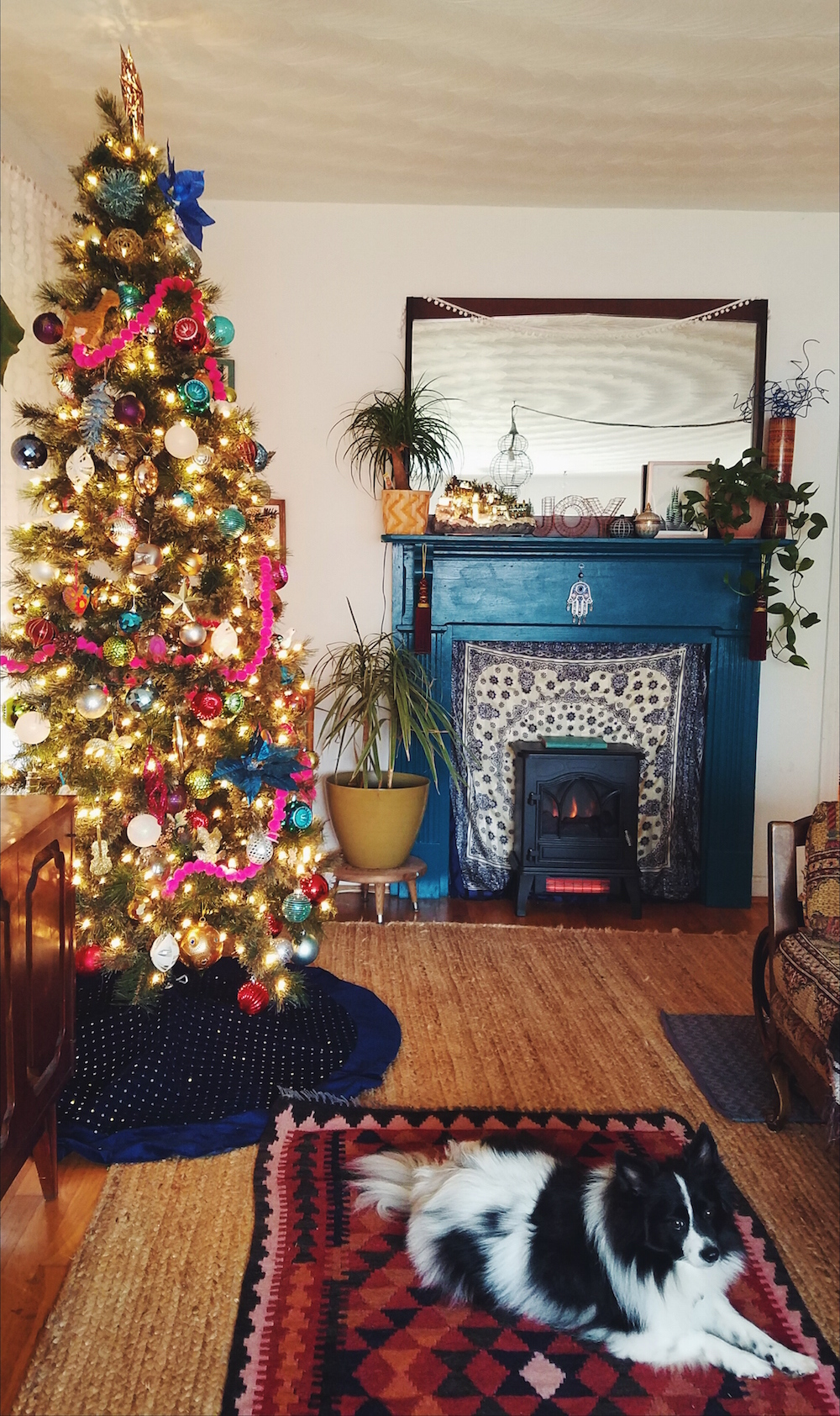 Bohemian Pink Christmas Tree