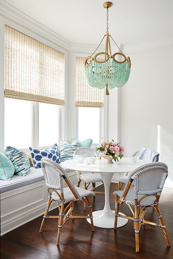 Breakfast Nook French Bistro Chairs via Amie Corley