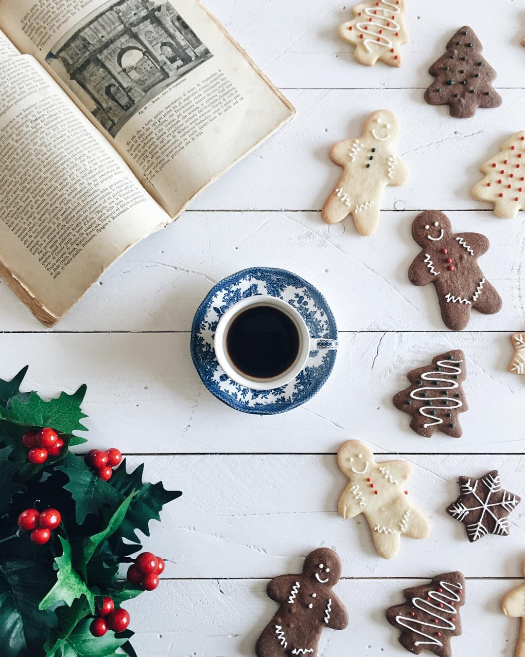 Christmas Cookies, Coffee and Reading