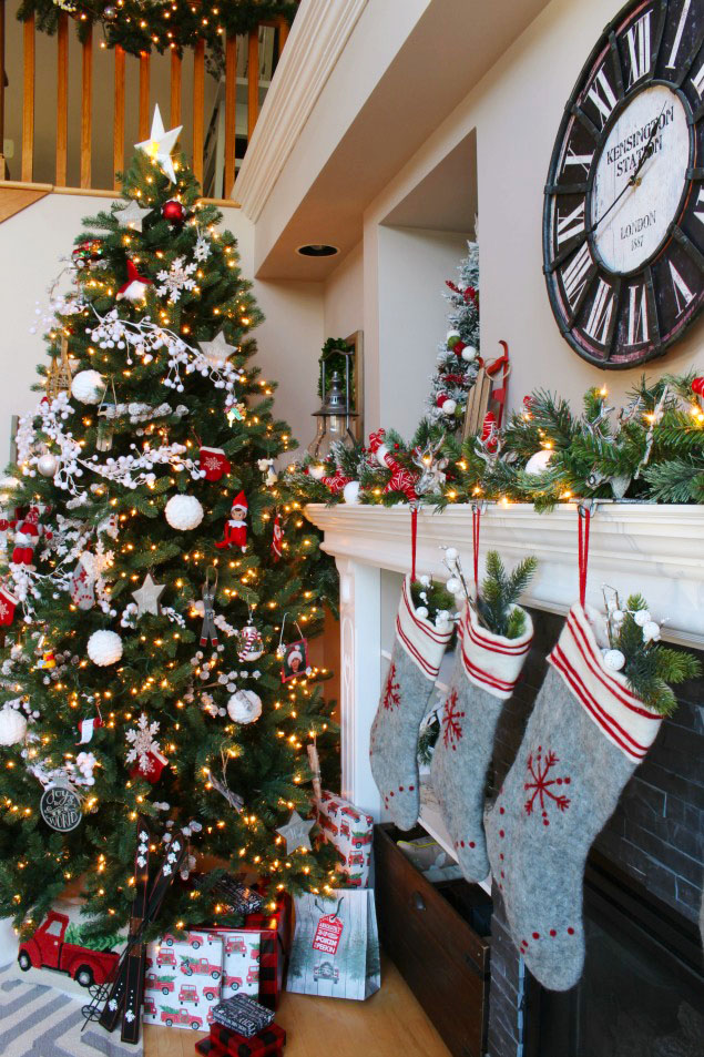 Christmas Home Tour via Clean and Scentsible