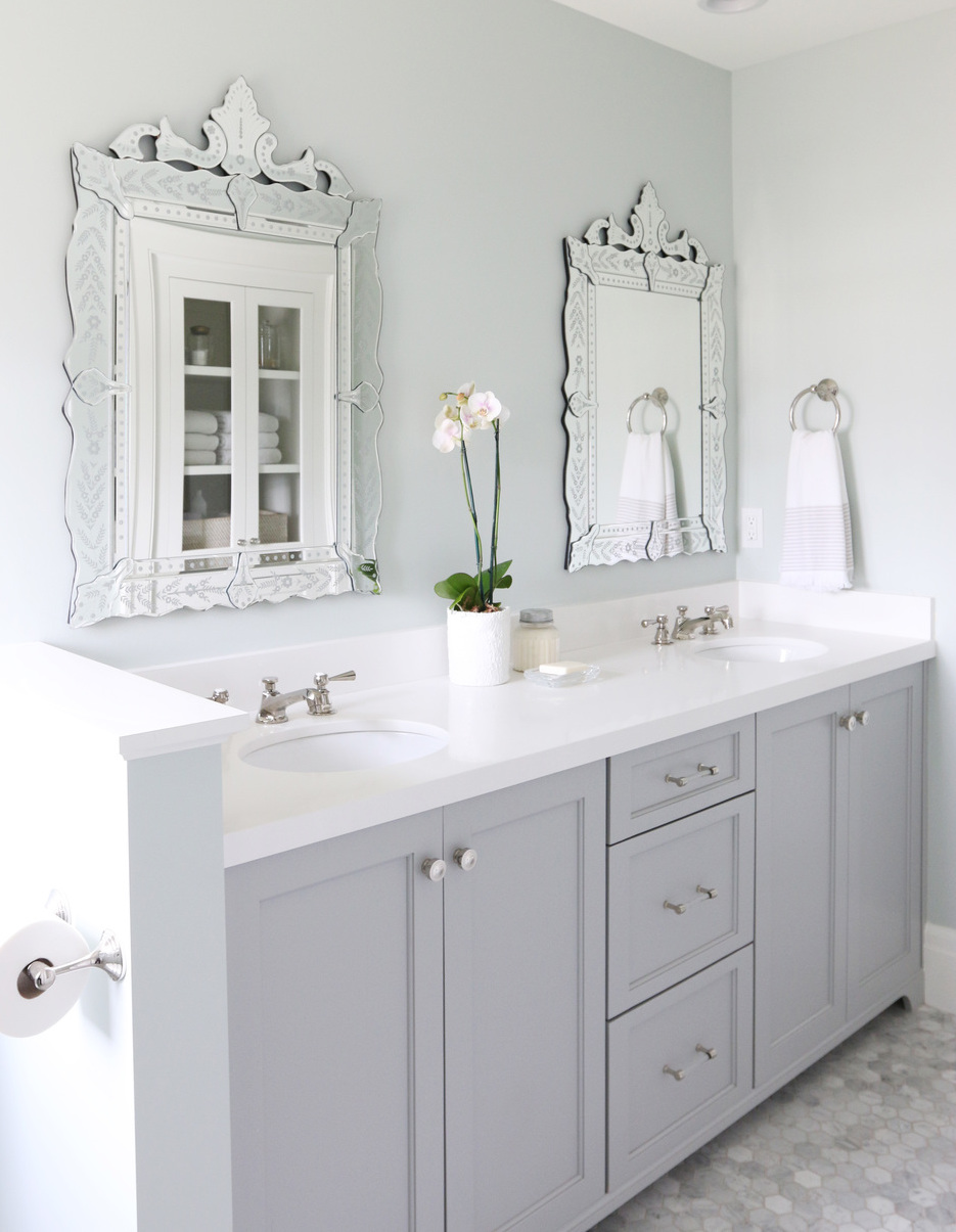 Coventry Gray Bathroom by Studio McGee