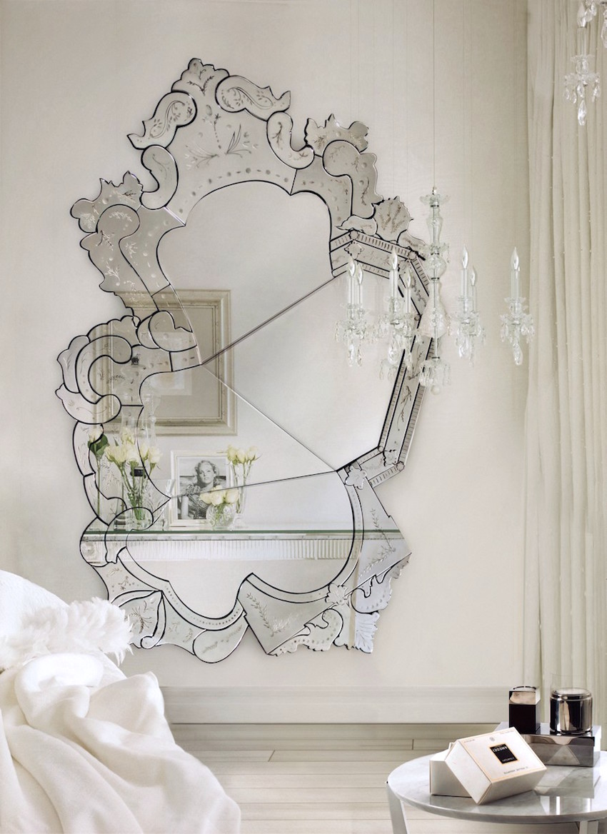Designer Venetian Mirror via Boca do Lobo