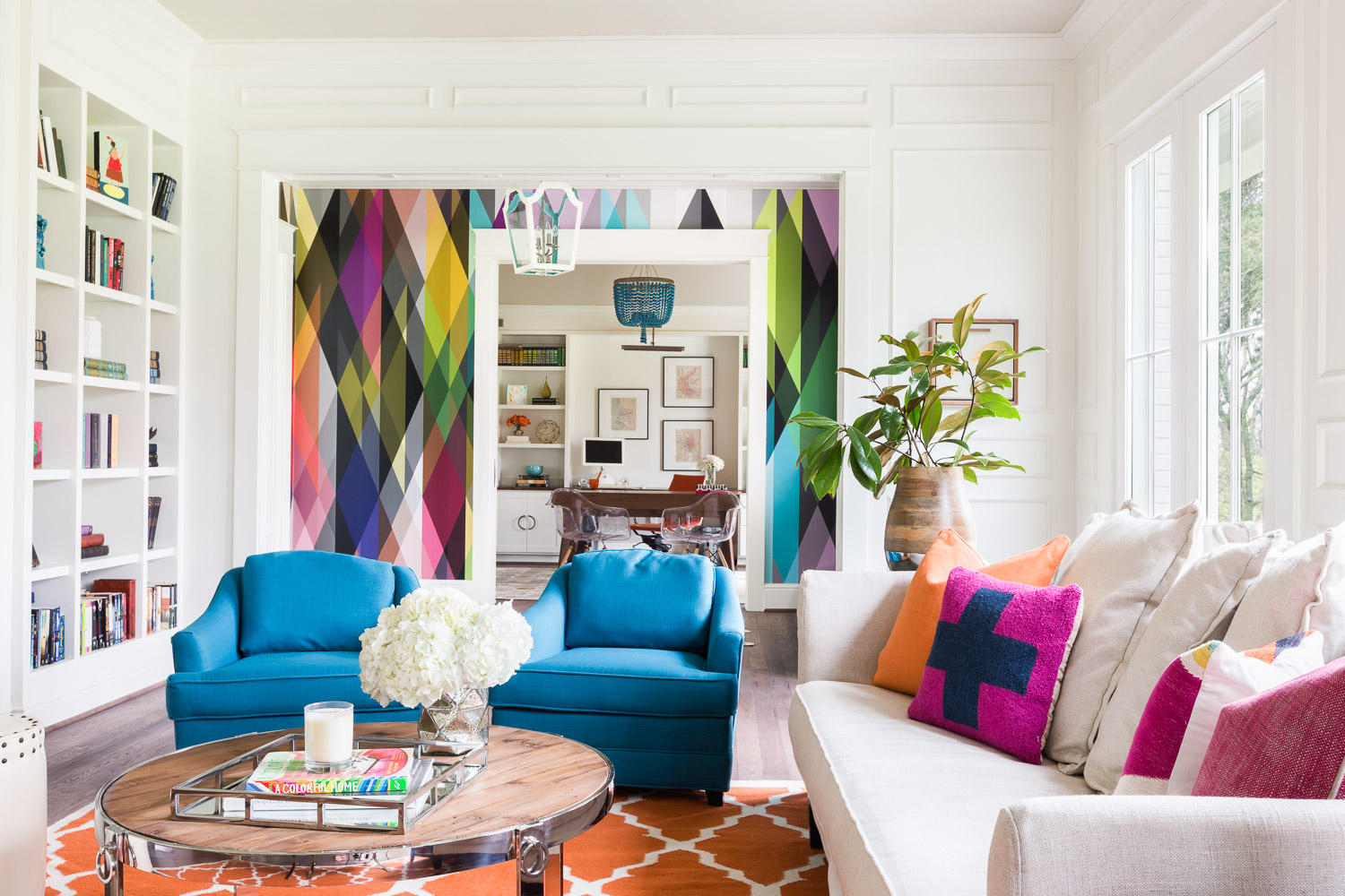 Eye of the designer emily lister interiors for Colorful living room ideas with pictures