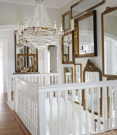 European Vintage Chandelier and Staircase