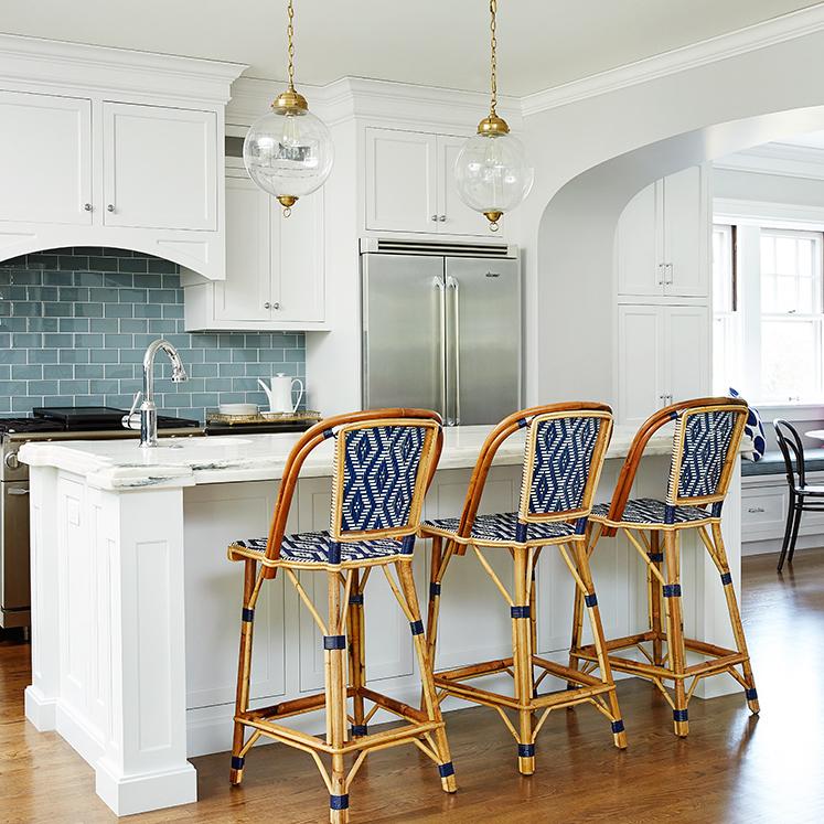 French Bistro Bar Stools via Amie Corley Interiors