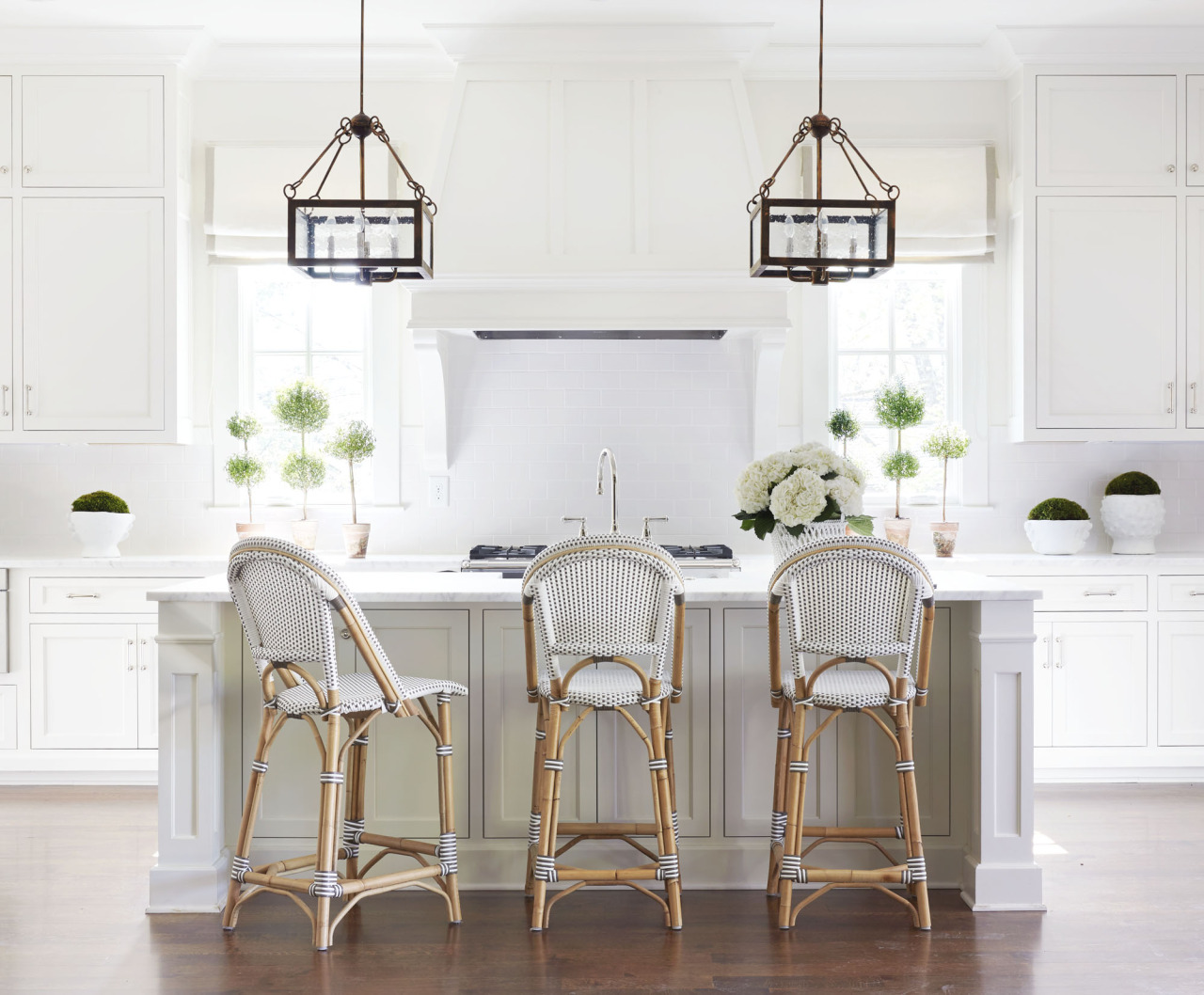 French Bistro Chairs via Sarah Bartholomew Design