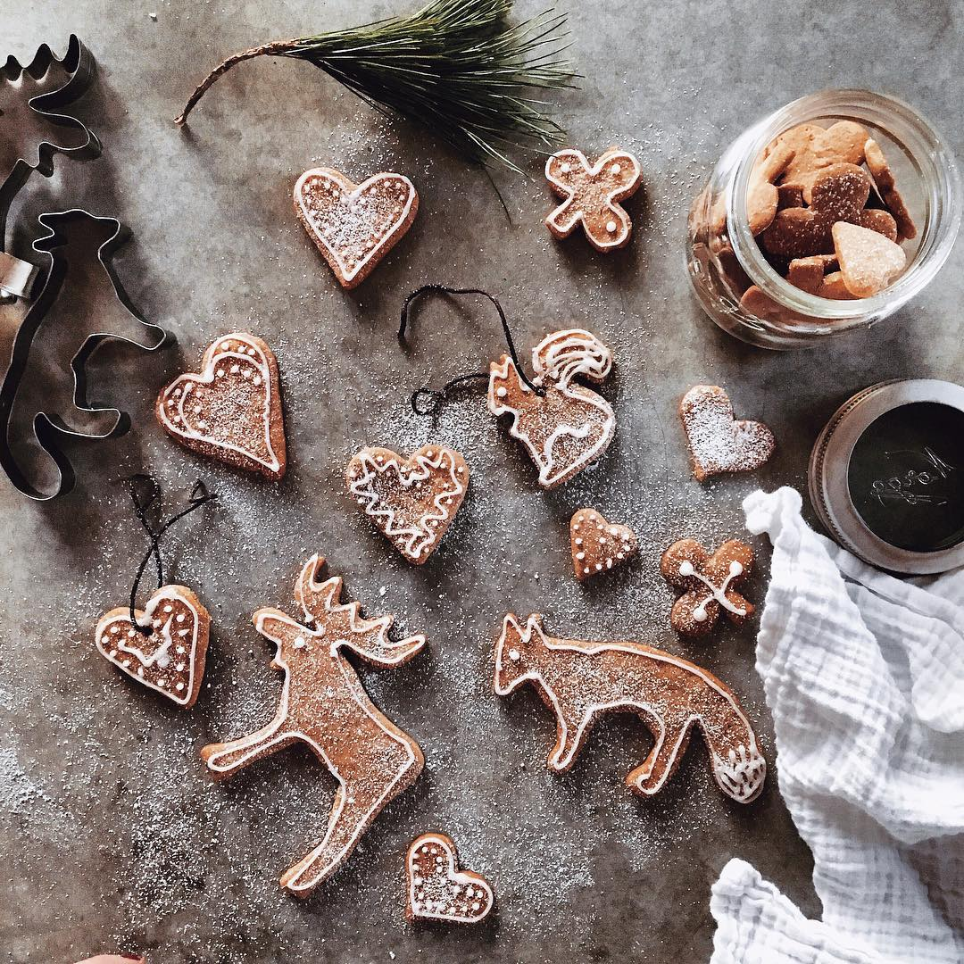 Gingerbread Cookie Cutouts and Powder