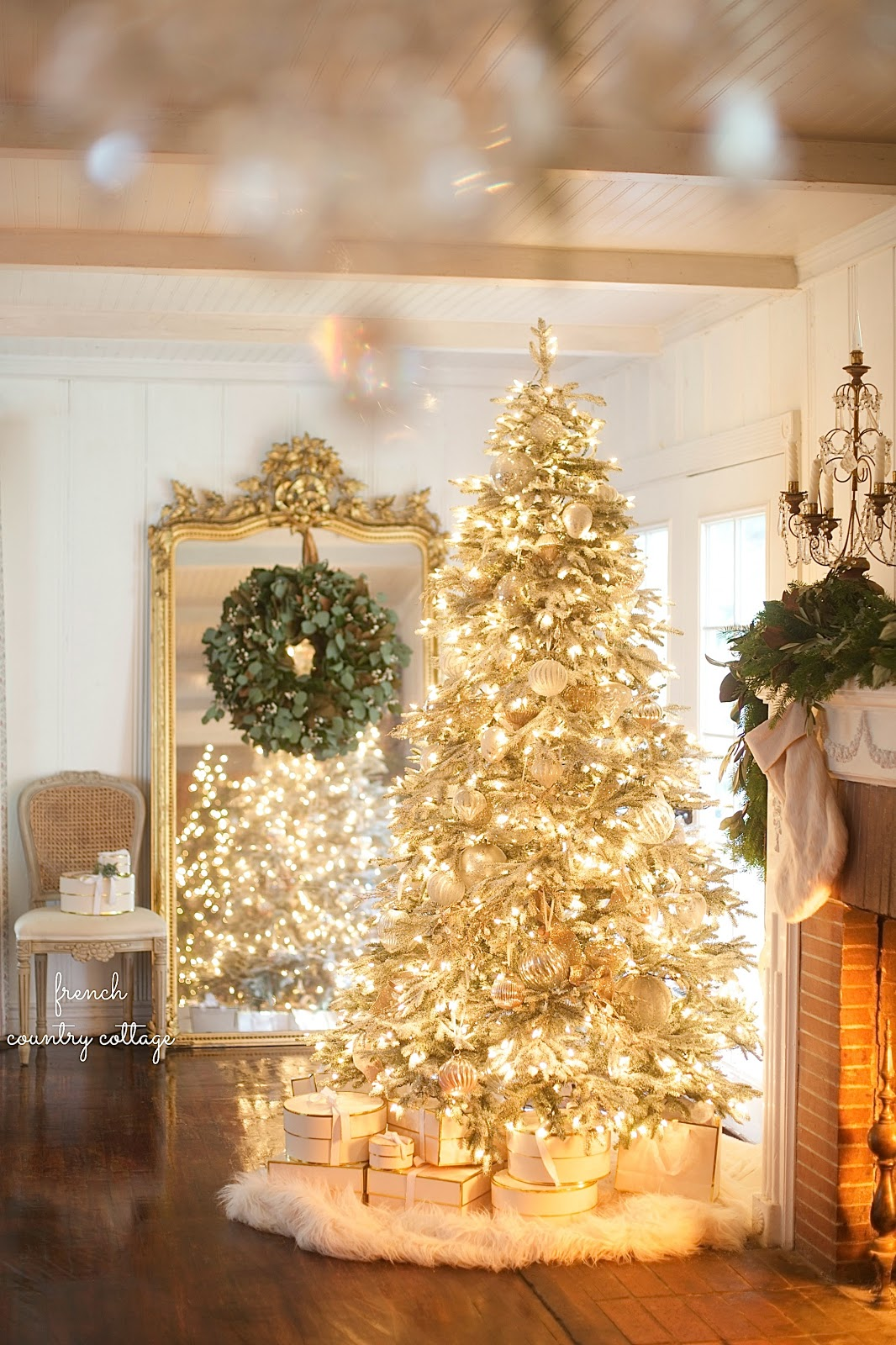 Gold Christmas Tree French Country Cottage