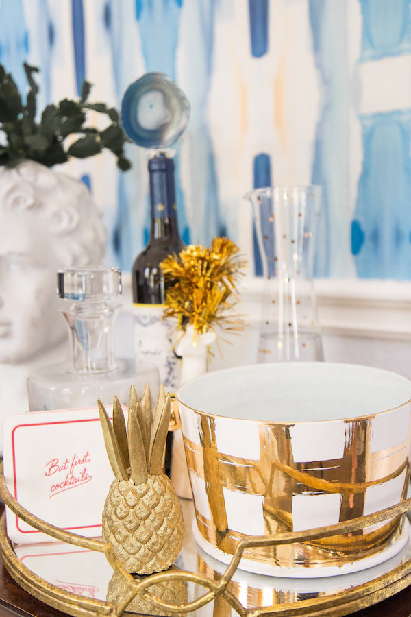 Gold Tray Barcart