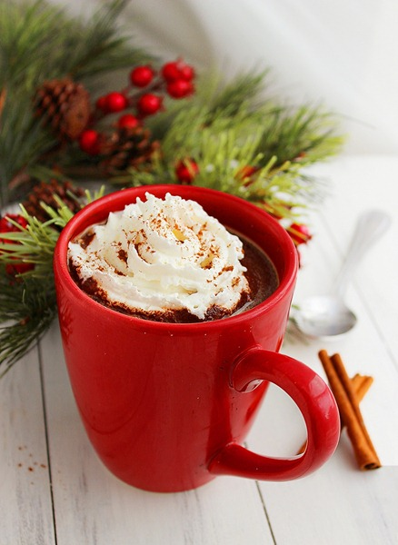 Mexican Hot Chocolate in Red Mug