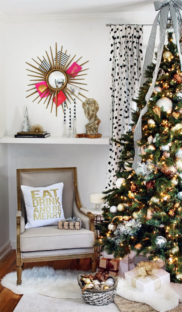 3 classic color themes for your christmas tree for Modern gold christmas tree