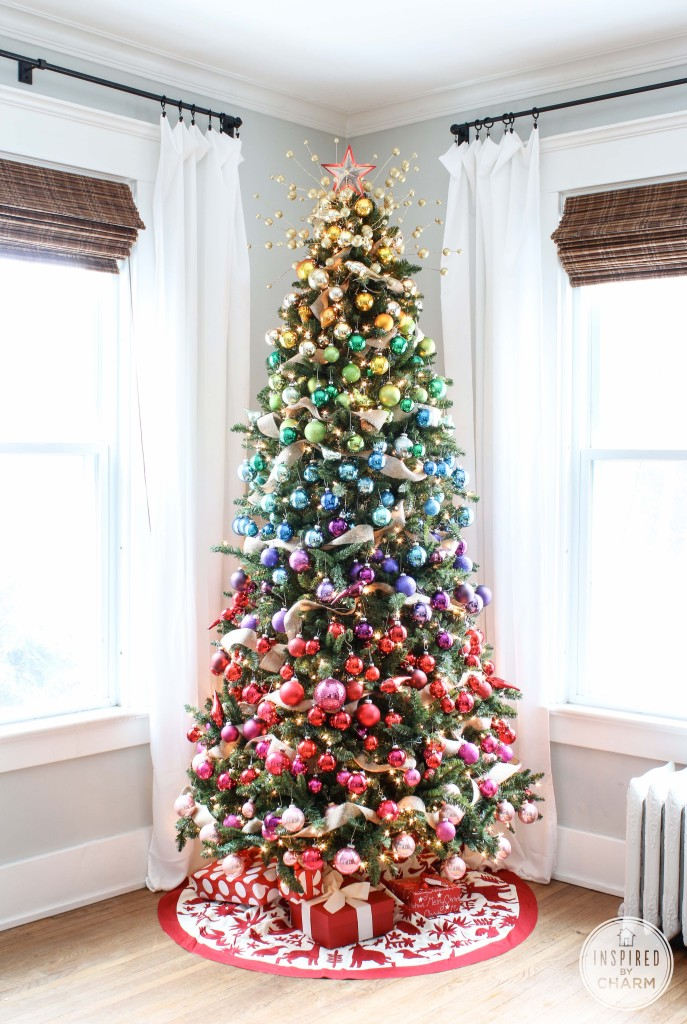 Ombre Rainbow Colored Christmas Tree