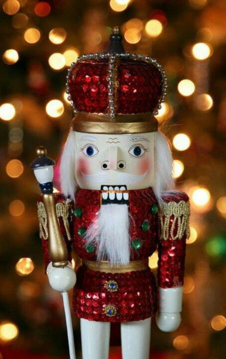 Red Rhinestone Nutcracker