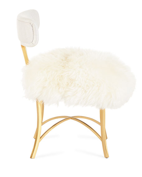 Swanson Sheepskin Side Chair Side View